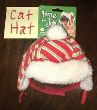New Kitty Cat Hat Pawsitively Merry Trapper Hat (One Size) *BENEFITS PET RESCUE!