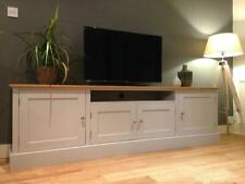 New Solid Pine & Oak 7ft TV Unit Stand Cabinet Painted Shabby Chic Sideboard