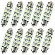 10x White 41mm 3528 SMD LED Car Interior Festoon Dome Bulb Lamp Light 12V 6000K