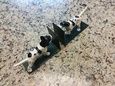 Cast Iron Setter Pointer Dog Sculpture Vintage Door Stop Figurine Bookend