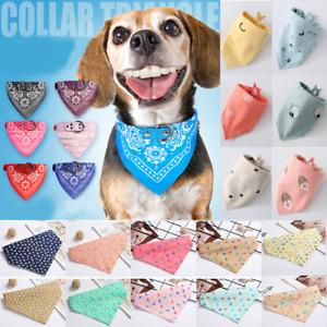 Cute Adjustable Dog Bandana Collar Puppy Cat Pet Neckerchief Neck Scarf Ties UK