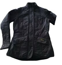 Black Quilted Barbour Jacket Size  12( Longer Length) Genuine.  Paid £180
