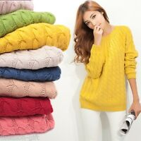HH Winter Warm Women Slim Long Sleeve Knitted Sweater Tops Cardigan Outwear Coat