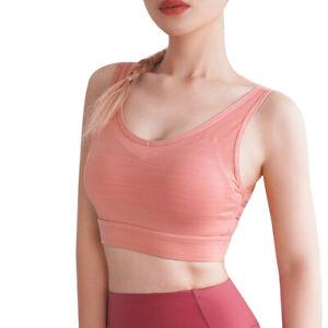 Women Comfy Sports Bra Padded Underwear Vest Tops Yoga Gym Push Up Lingerie AU