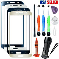 For Samsung Galaxy S6 G920 Front Glass Screen Lens Replacement Tools Kit UV Glue