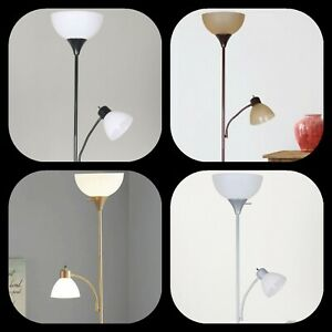 72 Combo Corded Floor Lamp Indoor with Adjustable Reading Lamp Lighting Stand