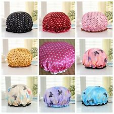Shower Cap Women Bath Hat Hair Reusable Elastic Salon Cover Waterproof Bathing