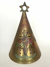 1974 Bells of Sarna Brass Christmas Bell First Limited Edition 9 Inch