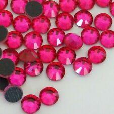 SS20 DMC HOTFIX *SUPER PINK* Glass Flatback Rhinestones (4.6-4.8mm) 500pcs