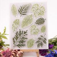 Green leaf clear stamp silicone seal flower stamp DIY scrapbook album deco Hu