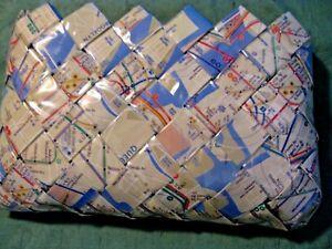 Nahui Ollin Mini Clutch Purse Handbag Woven New York City Map