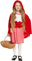 Childrens Girls Red Riding Hood Costume Fairy tale Fancy Dress Outfit Book Week