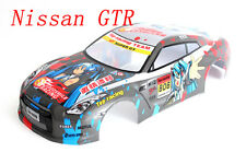 1 10 Painted RC Car Nissan GTR Body Shell 190mm A037 With Light Bucket