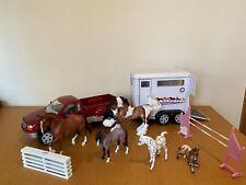 Breyer Horse Bundle inc. 5 horses, trailer, truck, fences