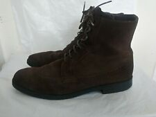A. TESTONI  Mens suede Leather Wingtip Brogue Lace Up  Boots Shoes UK Size  11