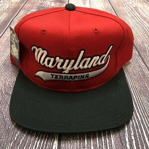 NWT Vintage STARTER NCAA Maryland Terrapins Red Snapback Hat