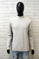 Cardigan Uomo Gas Taglia M Pullover Lana Sweater Man Maglia Maglione Grigio