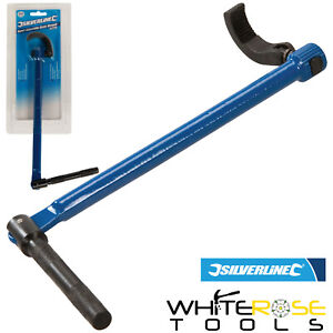 Silverline Adjustable Basin Wrench Spanner Tap Sink Bath Expert Plumbers 240mm