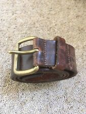 Distressed Leather Jeans Belt Size 34