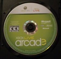 Xbox Live Arcade Compilation Microsoft Xbox 360 2007 DISC ONLY Black Case Tested
