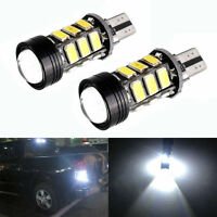 2xXenon White No Error Canbus T15 W16W 5630 COB 15-LED Backup Reverse Light Bulb
