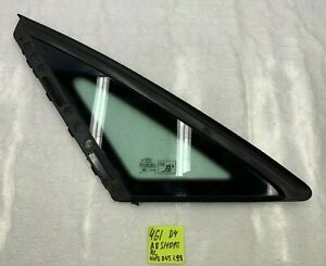2011-2018 AUDI A8 S8 - REAR LEFT DRIVER SIDE QUARTER WINDOW GLASS 4H0845299 OEM