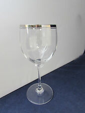 SET OF SIX - Mikasa Crystal STEPHANIE PLATINUM Wine Glasses