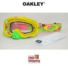 OAKLEY® CROWBAR® GOGGLE MX ATV MOTOCROSS MOTORCYCLE DIRTBIKE THERMO CAMO YELLOW
