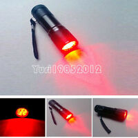 9 LED Red Light Waterproof Camping Flashlight Torch Astronomy Night Vision