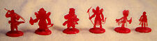 "Lot of 6 Final Fantasy Coca Cola Square Crystal Red 2"" Figurines"