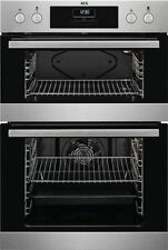 AEG DEB331010M Built In Double Electric Oven Stainless Steel HA1466
