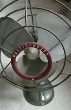 """Vintage Working 3 Blade Westinghouse Oscillating Fan 12"""" x 15"""" Two Speeds"""