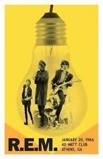 Rem 1986 - Concert VINTAGE BAND POSTERS Rock Jazz Travel Old Advert #ob