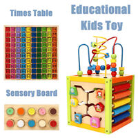 Baby Kids Montessori Early Educational Times Table Touch & Match Sensory UK