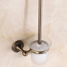 American Style Wall Mounted Toilet Brush Holder Set Bathroom Cleaning Brush Kit