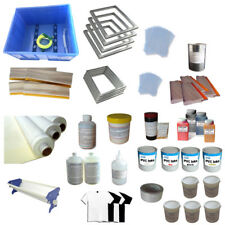 4 Color Screen Printing Materials Supply Silk Screen Press Tools Kit Squeegee Co