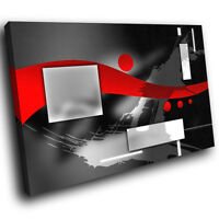 ZAB588 Red Black Grey White Modern Canvas Abstract Home Wall Art Picture Prints