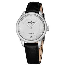 Perrelet Women's First Class Lady Black Leather Strap Automatic Watch A2068/1
