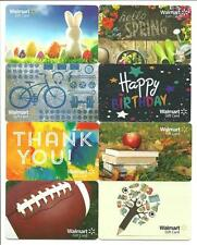 Lot of (8) Walmart Gift Cards No $ Value Collectible Easter Spring Bike Football