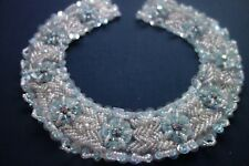 Vintage Sequinned Beaded Embroidery Embellishment Detachable Collar Satin Lined