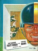 1954 (Oct.31) Football Program, Chicago Bears @ San Francisco 49ers ~ Good