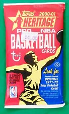 2000-01 Topps Heritage NBA Basketball Trading Cards Sealed Hobby Pack