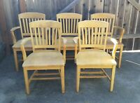 (5) High Point Bending & Chair Co. Bankers Chairs VINTAGE RARE Siler City, NC
