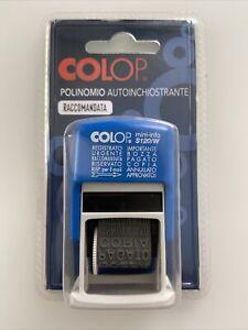 COLOP miniS120/W Timbro POLINOMIO AUTOINCHIOSTRANTE Urgente Copia Pagato Freccia