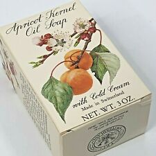 Crabtree Evelyn Apricot Oil Bar Soap Vintage Cold Cream 3 Oz Switzerland 1973