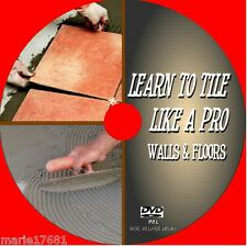 WALL & FLOOR TILING INSTRUCTION DVD TECHNIQUES TILE LAYING TIPS TOOLS & SKILLS