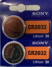 2-Sony 2032-CR2032  Lithium Battery 3V Authorized Seller USA Free Ship BB 2029.