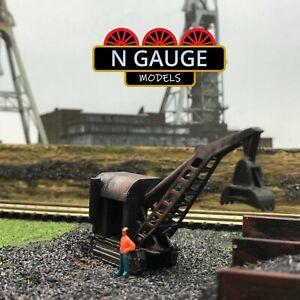 N Scale Gauge Tracked Steam Grabber Crane (Coal) 1:148 Crawler Crane 1:160