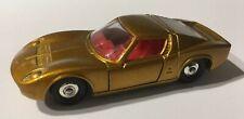 Phantom Matchbox Lesney #33 Gold Lamborghini With Regular Wheels.