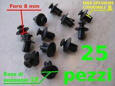 VITI Fermi Rivetti plastica A VITE X CODONI CARENE 8 mm fissaggio sicuro 25 pz